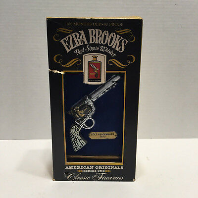 Vintage Ezra Brooks Whiskey Bottle Classic Firmarms Colt Peacemaker 1873