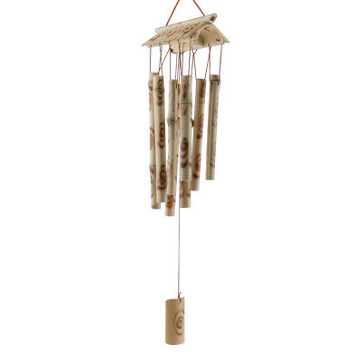 Wind chimes and clocks sound tube 27 wood metal feng shui garden home decor H9P7
