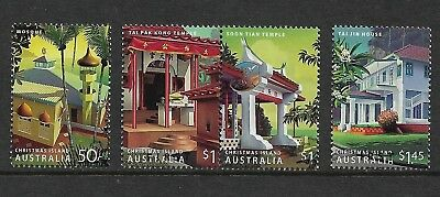 CHRISTMAS ISLAND 2006 Heritage Buildings, set of 4, used, first day cancel