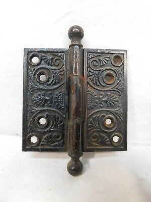Antique Victorian Style Door Hinges - Circa 1870 Ball Top Architectural Salvage
