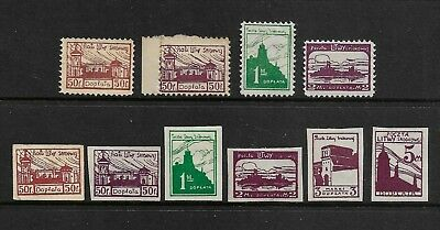 CENTRAL LITHUANIA, Polish Occupation 1921 Postage Due, perf & imperf, mint MH