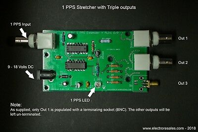 1 PPS GPS Pulse Stretcher module with Triple outputs