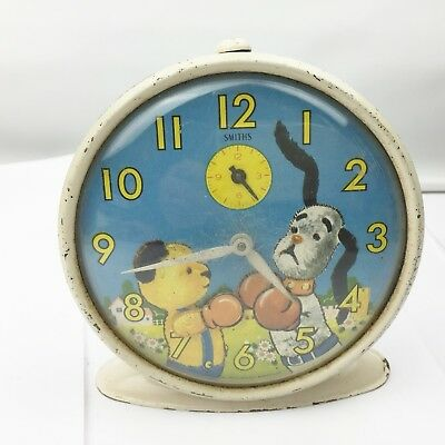 Vintage Smiths Boxing Sooty & Co Sooty Sweep Retro Alarm Clock Working Perfect