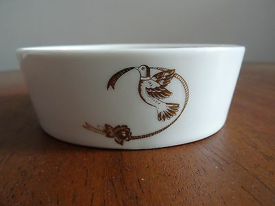 Vintage Lefton China Hand Painted Bird Dove Soap Dish Trinket Bowl #04107 Japan