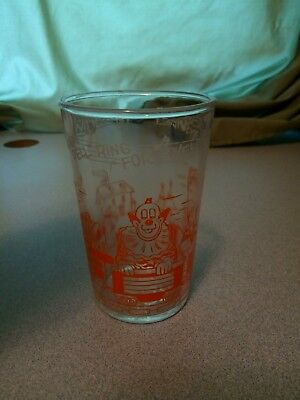Vintage 1953 Howdy Doody Welches jelly glass