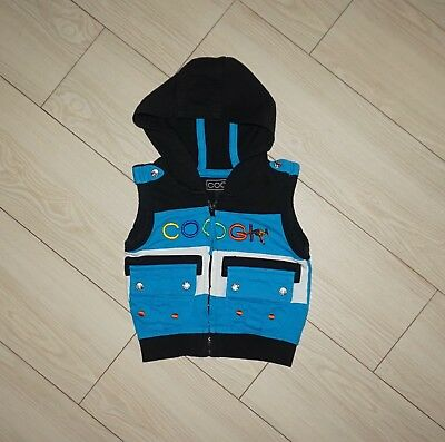 Baby Boys COOGI Spell Out Full Zip Sleeveless Jacket Vest Hooded 0 3M