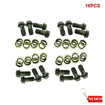 16x Motorcycle 10mm Banjo Bolts Pit Dirt Bike Brake Master Cylinder M10x1.25mm