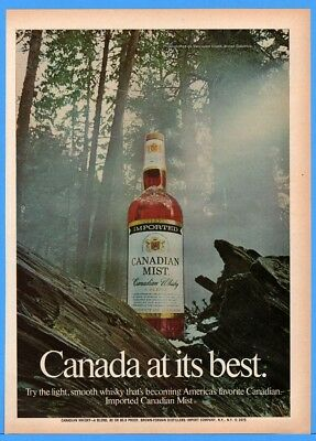 1973 Canadian Mist Whisky Vancouver Island British Columbia Canada Print Ad