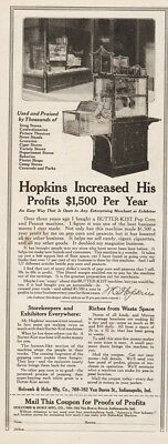 1918 Holcomb Hoke Butter Kist Popcorn Machine Indianapolis IN Movie Theater Ad