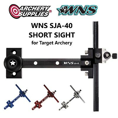 WNS SJA-40 SHORT SIGHT for Recurve Target Archery - Right Hand - Black