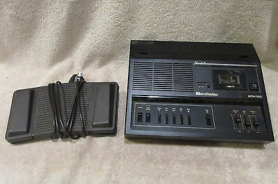 Norelco Microcassette Transcriber MCR-7100 Dictaphone Tape Machine w/ Foot Pedal