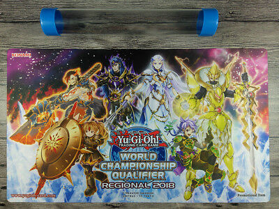 2018 WCQ Yu-Gi-Oh! Elementsaber/Elemental Lord Playmat TCG Mat Free Best tube