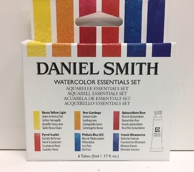(New) Daniel Smith Watercolor Essentials set, 6 Tubes 5 ml/ 285610005