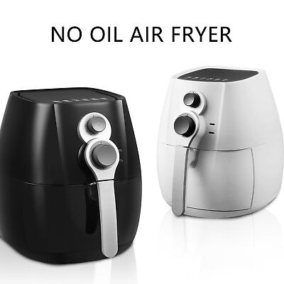 4.4QT Electric No Oil Air Fryer Timer Temperature Control with 6 Cooking Presets