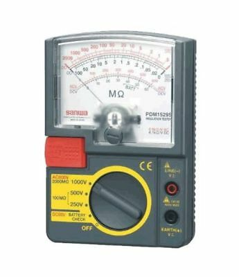SANWA 3 Range Insulation Resistance Tester PDM1529S Made in JAPAN