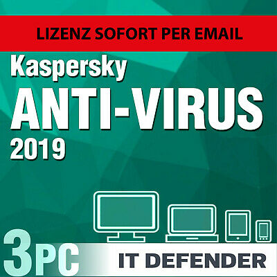 Kaspersky Antivirus Security 2018 3 PC 1 Jahre / Gerät 1 , Anti-virus , internet