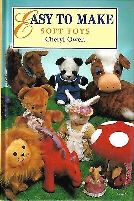 Easy to Make SOFT TOYS 23 projects..HB book by Cheryl Owen