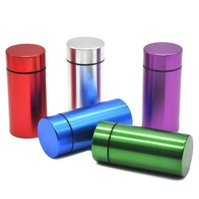 Airtight Smell Proof Aluminum Herb Container Metal Smoke Holder Pipe Case New