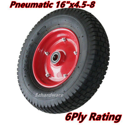 "16""x4.50-8 Wheelbarrow Wheel (25mm)Bore Bearing Pneumatic Wheel Tyre"