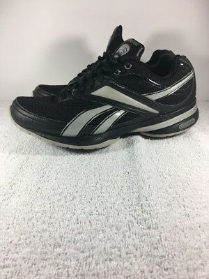 28ce655836cd33 Reebok Easy Tone Smooth Fit Black   Silver Shoes Women s Size-7 Shape Ups