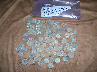 LOT #1 of ANCIENT ROMAN BRONZE COINS HIGH GRADE TOP QUALITY MISC SIZES 6.7 oz