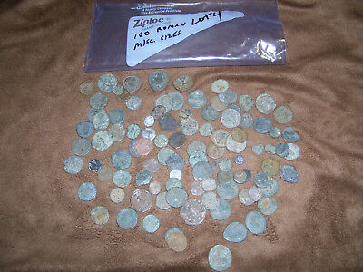 LOT #4 of ANCIENT ROMAN BRONZE COINS HIGH GRADE TOP QUALITY MISC SIZES 6.4 oz