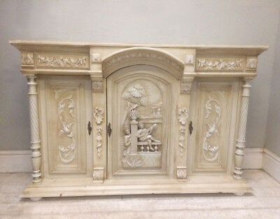 Superb Old French Carved Buffet Base / Sideboard