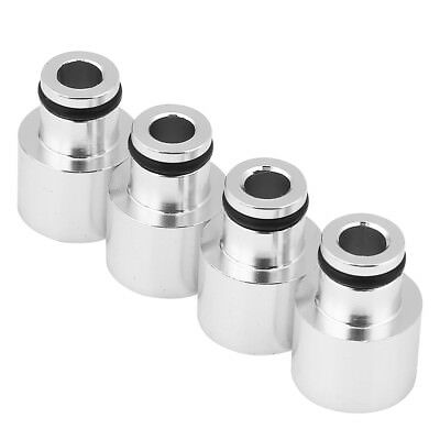 4x Fuel Injector Top Hat Adapters For Civic Acura RDX B16 B18 D16Z D16Y Silver