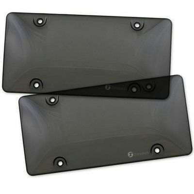 2x Bubble Tinted- Smoke License Plate Tag Frame Cover Shield Car Truck Hot
