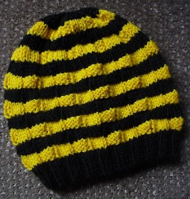 Beanie. Hand-Knitted By Me - Richmond Tigers Colours. 2 Years Plus