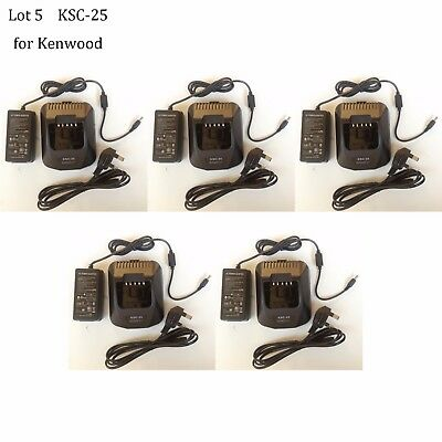 5X KSC-25 Rapid Charger Adapter for TK-2360E TK-3360E TK-3160 Kenwood Radio