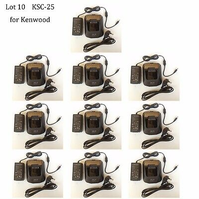 Lot 10 KSC-25 Rapid Charger Adapter for Kenwood NX-320ENX-320E2NX-320E3 Radio