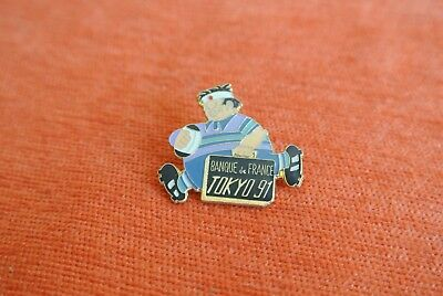 18958 Pin's Pins Banque De France Tokyo 1991 Japan Japon Rugby