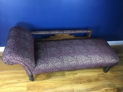 Antique chaise longue Edwardian, Clark & Clark fabric