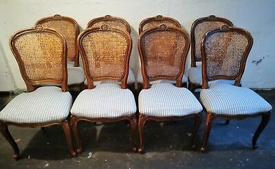 8 fantastic vintage reproduction Louis XV French Style Elegant Dining Chairs