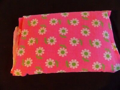 Vintage, Retro Sewing Fabric, Pink with Retro look flowers.