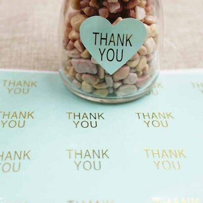 Stickers - Thank You with Gold Embellishment - Set of 50pcs - 3.2cm x 3cm