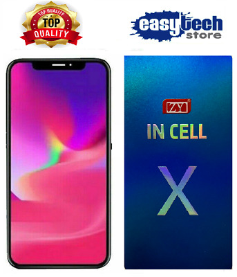 DISPLAY LCD Schermo per iPhone X 10 TDDI In-Cell TIANMA Touch Screen NERO