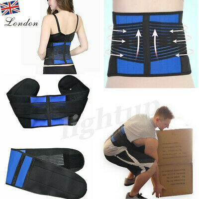 Adjustable Pain Relief Double Pull Lumbar Support Lower Back Belt Brace Neoprene