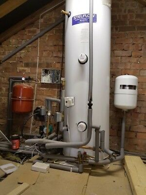 RM CYLINDERS STELFLOW Duplex Indirect Unvented 300L Hot water ...