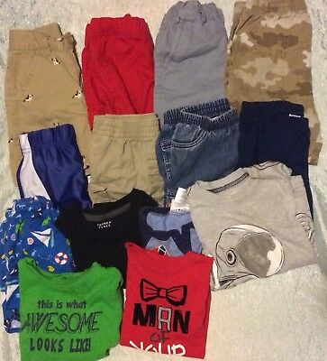 Baby Boys Spring Summer Play Clothes shorts tees sz 18-24 months Lot of 14