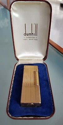 ☆ACCENDINO DUNHILL ROLLAGAS lighter GOLD revised and guaranteed CON SCATOLA BOX☆