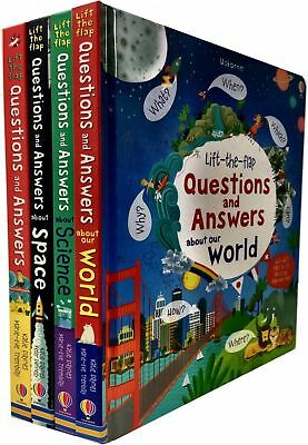 Lift the Flap Questions and Answer Collection 4 Books Set Katie Daynes Our World