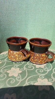 2 llanboidy mugs welsh pottery
