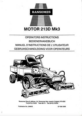 Ransomes Xm4803 Service Manual