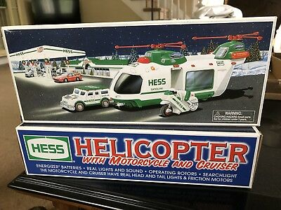 The Hess Toy Truck: Helicopter with Motorcycle and Cruiser, Limited Release 2001