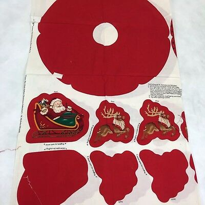 VIP Twas The Night Before Christmas Pillow Panel Wreath Reindeer Santa Sleigh