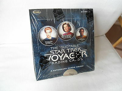 Star Trek VOYAGER QUOTABLE Tradingcard Box lim. 6000 *** OVP
