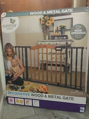 Summer Infant® Walk Thru Decorative Wood and Metal Expansion Baby Gate