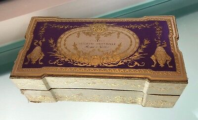 coffret pr flacon de parfum ancien ROGER & GALLET vintage perfume bottle box